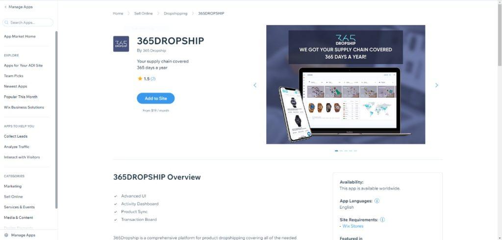 365dropship connect app